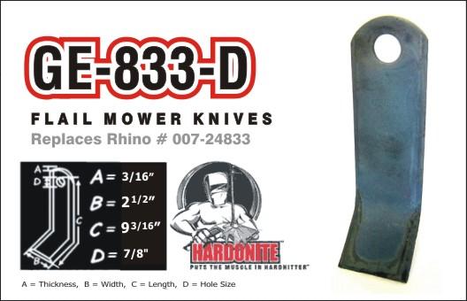 GE833-D Fits Rhino #007-24833